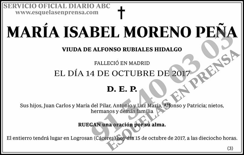 María Isabel Moreno Peña